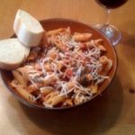Penne-with-Tomato-Spinach-and-Sausage