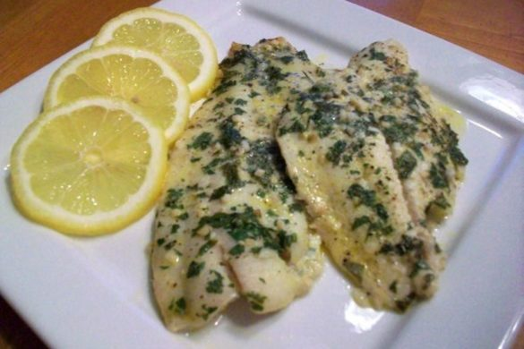 Baked-Flounder-with-Lemon-Garlic-Butter-Sauce