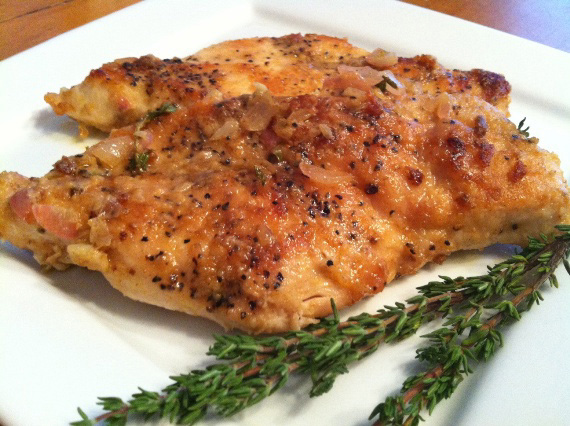 Chicken with Sage Butter Sauce