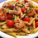 Garlic-Shrimp-Pasta-with-Tomatoes