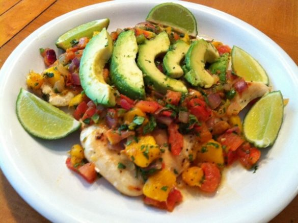Chicken-with-Mango-Salsa-and-Avocados