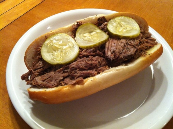 Hand Carved Hot Roast Beef Sandwiches