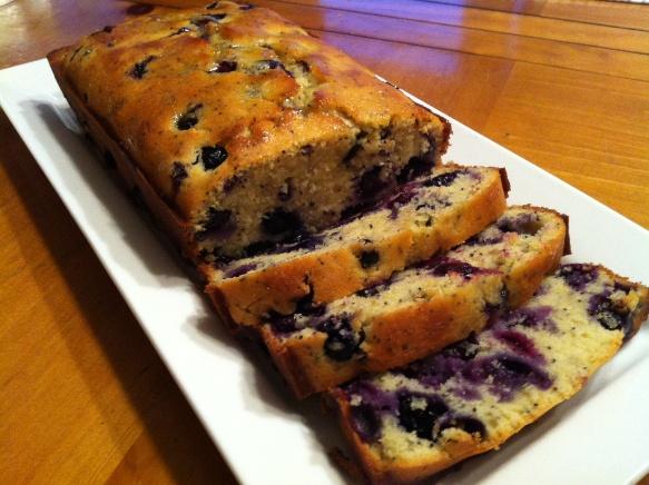 Lemon Blueberry Poppy Seed Loaf Bread