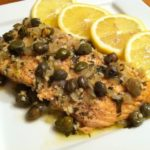 Baked Salmon with Lemon-Butter Sauce and Capers