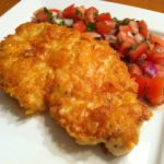 Parmesan Crusted Chicken with Tomato Basil Salsa