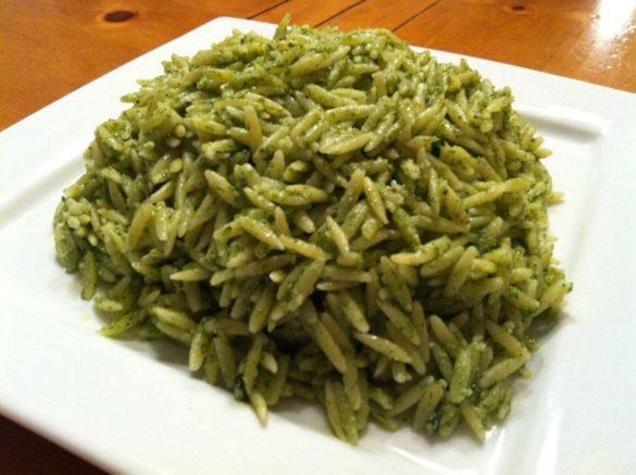 Spinach-Parmesan-Orzo-Pasta