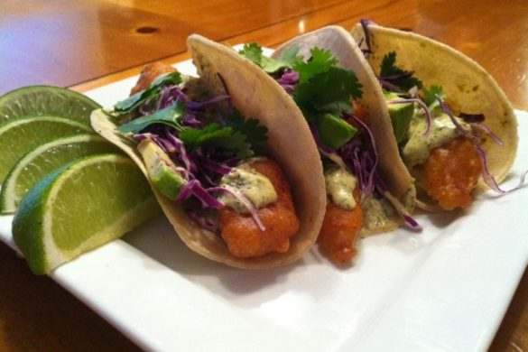 Crispy-Fish-Tacos-with-Cilantro-Cream-Sauce